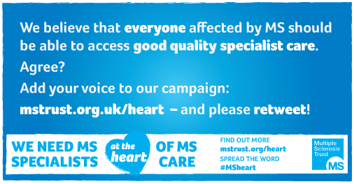 It's #MSWeek! Help us make sure everyone affected by MS can get specialist care Please RT! http://t.co/IT8EFyG1PL http://t.co/1TkgdagLGn