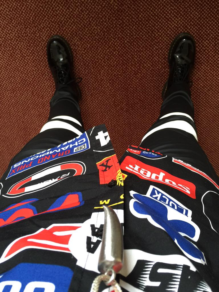 Today's attire for going through t' keyhole http://t.co/J4PogXGUZo