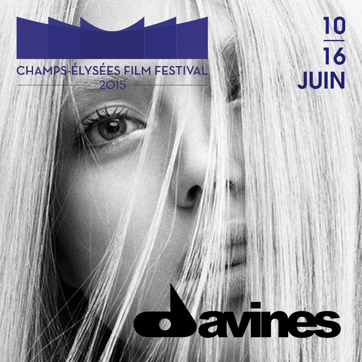Champs-Élysées Film Festival est ravi d'accueillir @DavinesFrance parmi ses nouveaux partenaires. http://t.co/noIOEhR0rR