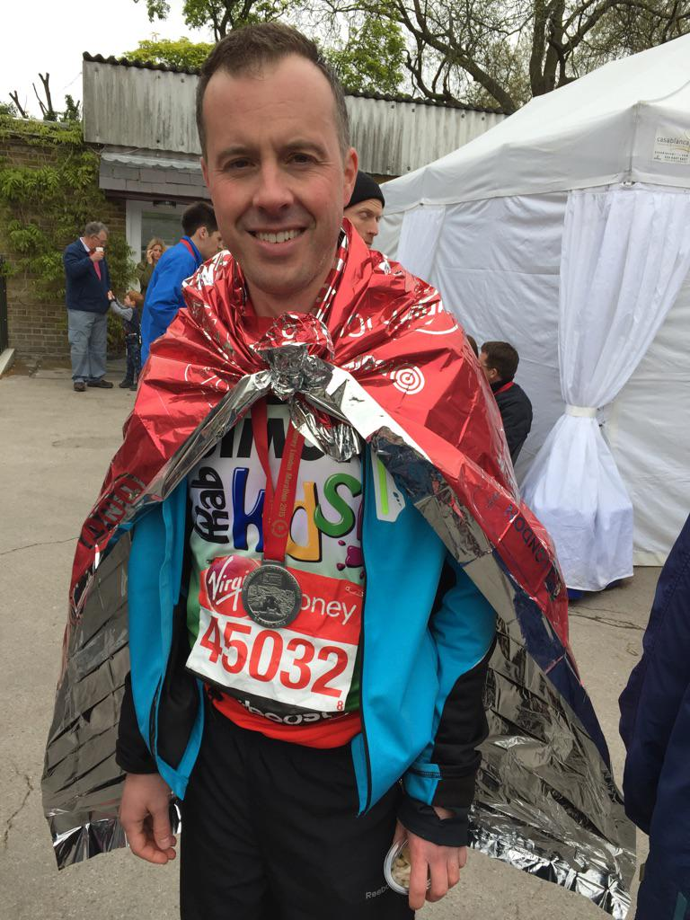 #LondonMarathon was incredible! Support from the amazing team @phab_charity was awesome. Amazing day :) http://t.co/oV7YBXdtg0