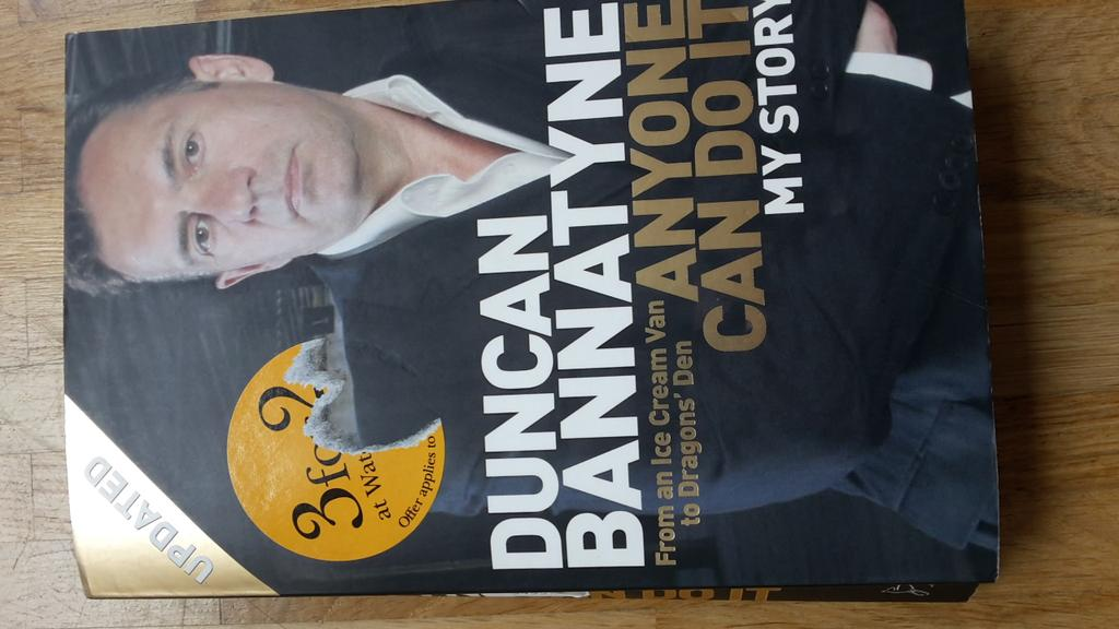 "RT @kanzlei_lexa: Just finished ""Anyone can do it"" by @DuncanBannatyne. Get it, read it, learn! #entrepreneur #business #Romania http://t.c…"