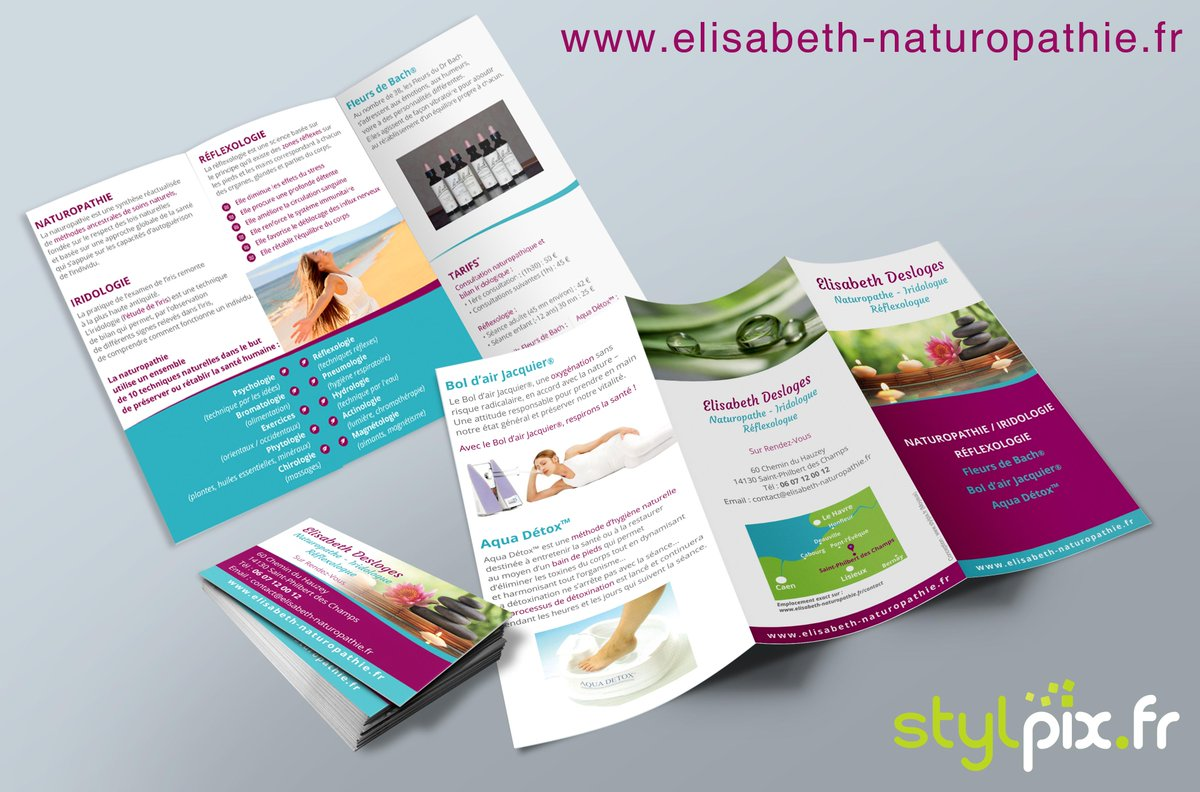 Stylpix On Twitter Cration De Cartes Visite Et Flyers Pour E Desloges Naturopathe Reflexologue Print Calvados Lisieux Normand