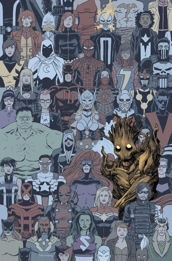 My cover for GROOT #2, colours by @whoajordie http://t.co/o1bgVLttqK