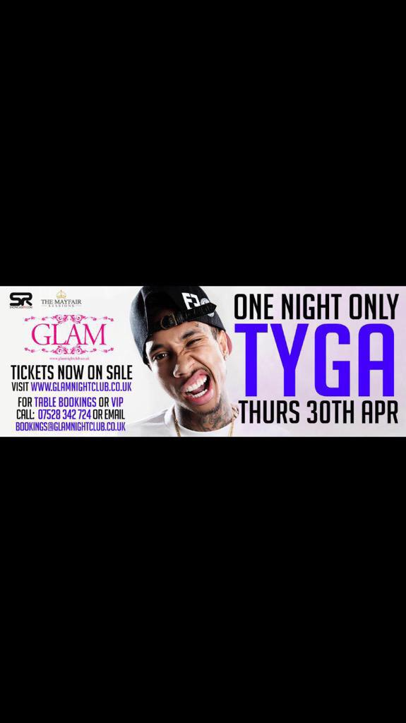 @Tyga live this thurs grab ticket from @MistaBibs & @DJBlighty ✌️ http://t.co/YX8jj4lIkW