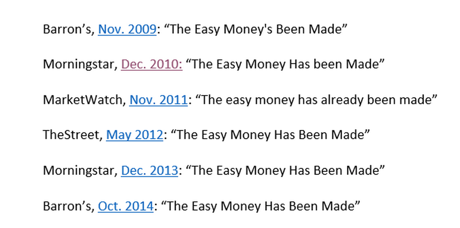 """the easy money has been made"" ""@StockTwits: This is just an amazing find from @tmfhousel at the WSJ - $SPY"" http://t.co/WMMYLkkz6G"