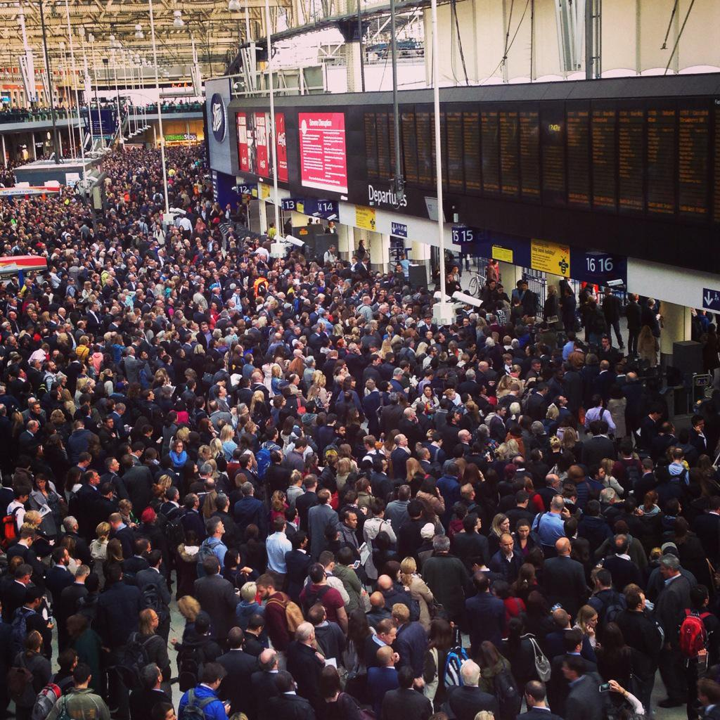 Severe delays and huge crowds at Waterloo Station | London