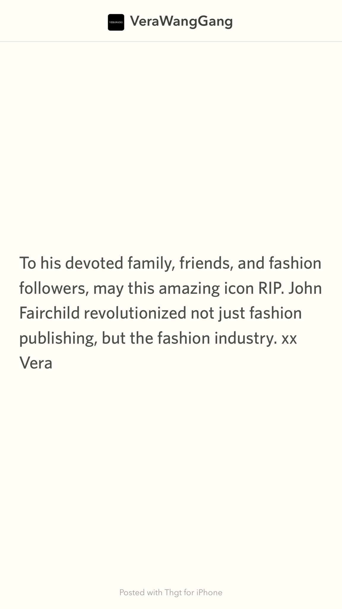 To his devoted family, friends, and fashion followers, may this amazi… http://t.co/UYNiRvqpFC http://t.co/XYajYLWnA9