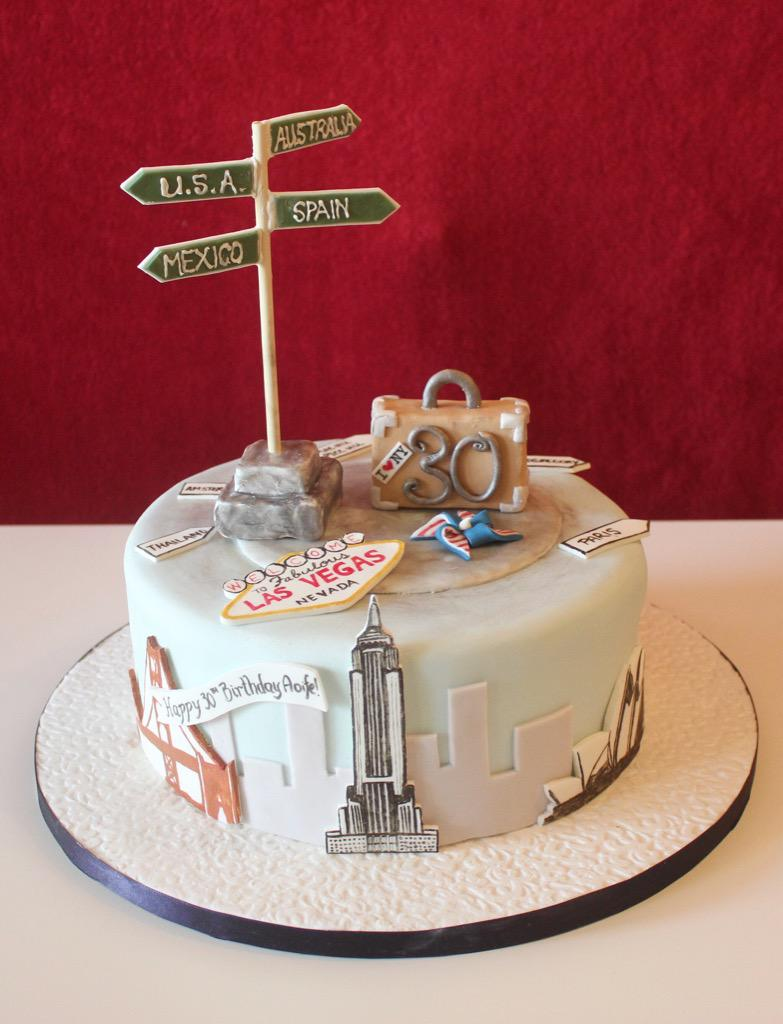 Little Miss Muffin on Twitter Travel themed 30th birthday cake
