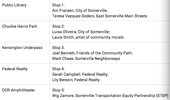 We're excited for these great speakers on the #WalkTheVille route in #Somerville http://t.co/0skhz5j2R8 http://t.co/bFrQMpPFW7