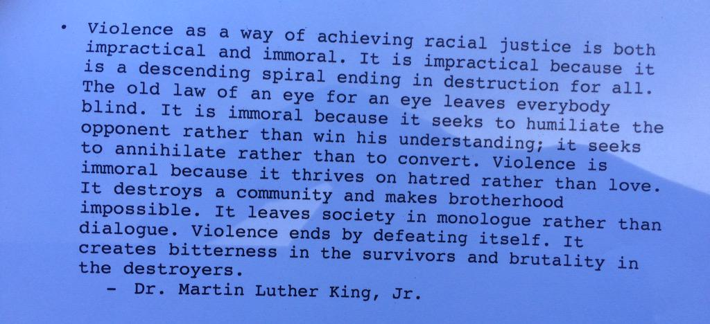 I think this quote by MLK is relevant right now.  #BaltimoreRiots http://t.co/lsLnZ2A7Wu