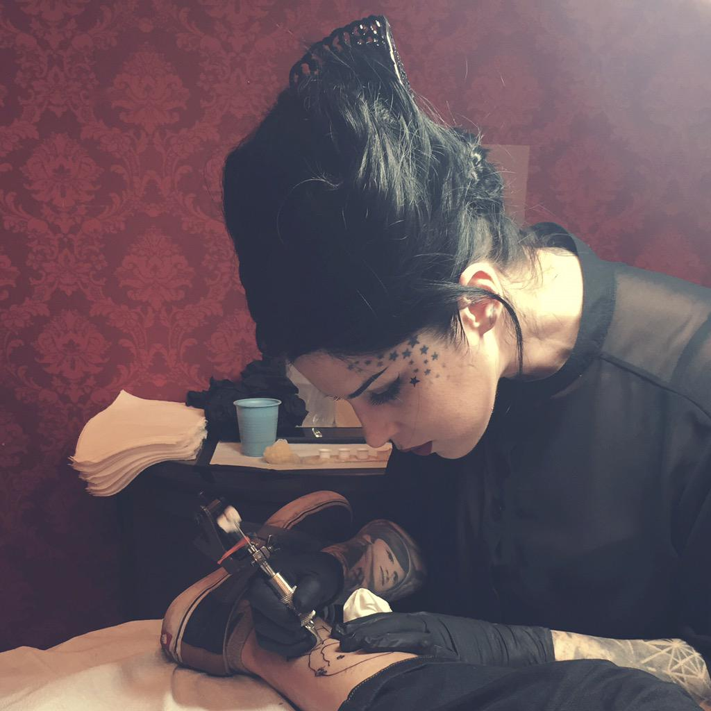 Tattooing what very may well be the best portrait I've done in my career thus far. #tattootime http://t.co/FTOxQgBQlV