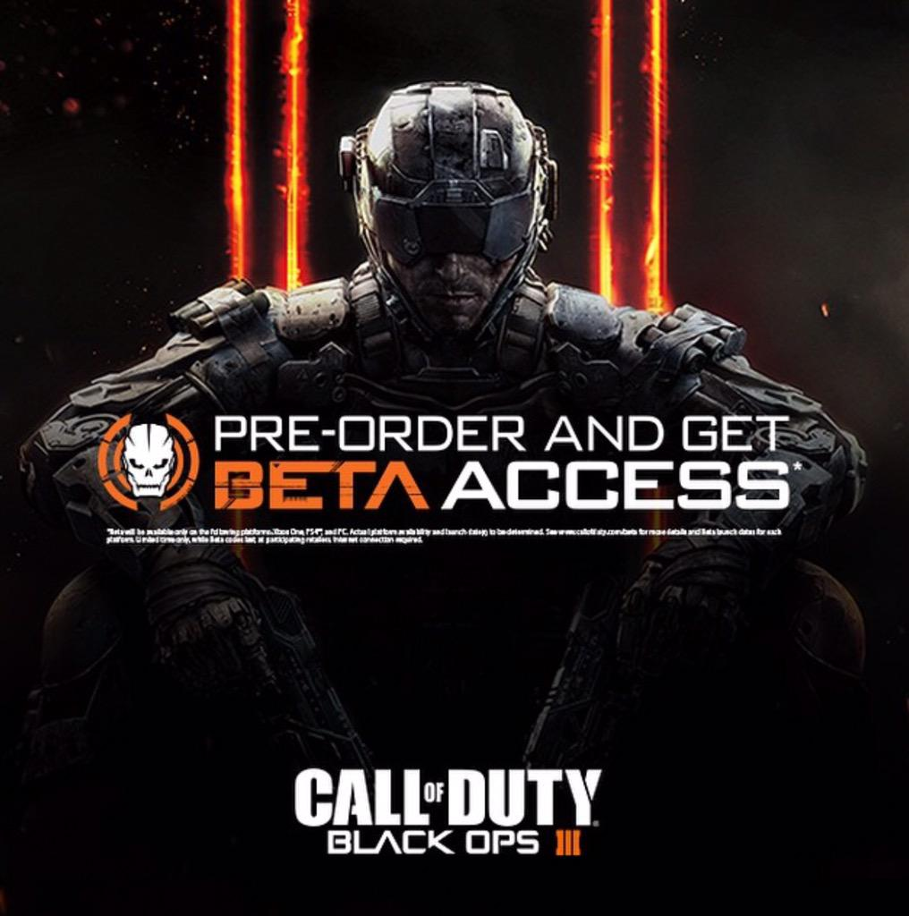 Giving away 5 Beta Access codes for Black Ops 3.  You have to follow @ItsAllViral & RT this. Winners chosen May 1st http://t.co/66n4TsJ2Nr