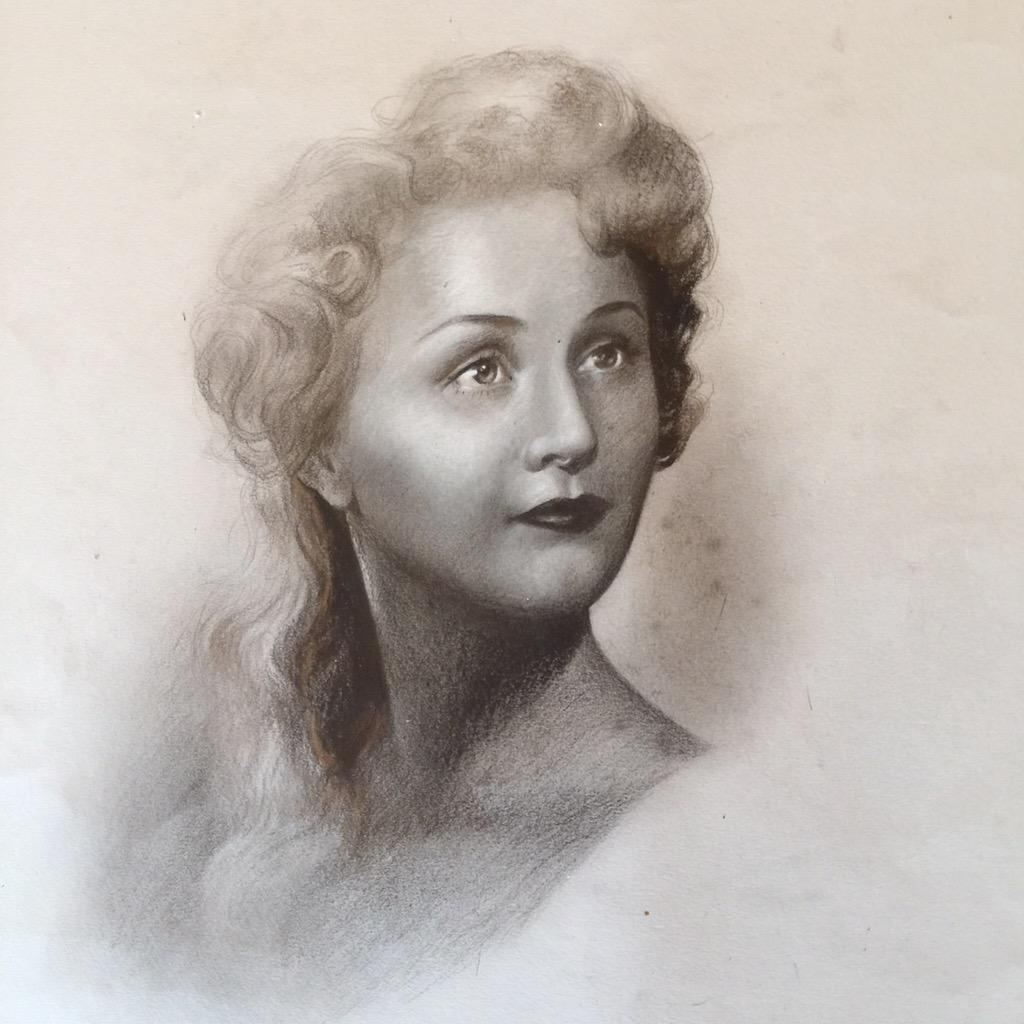 To love and be loved in return.   [portrait of my dear friend's Mother.] http://t.co/C86SlJdFqi