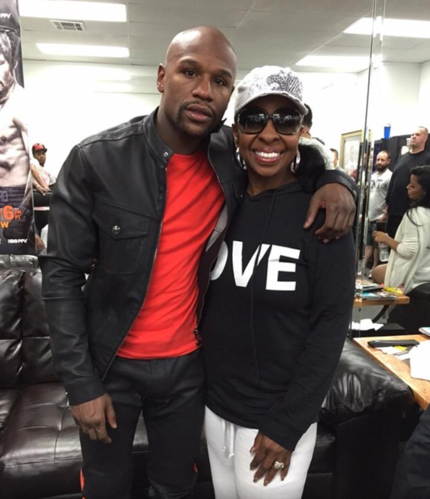 The champ @FloydMayweather and I! So good seeing you dear! #TheChamp #FloydMayweather http://t.co/vQMm5QQNbp