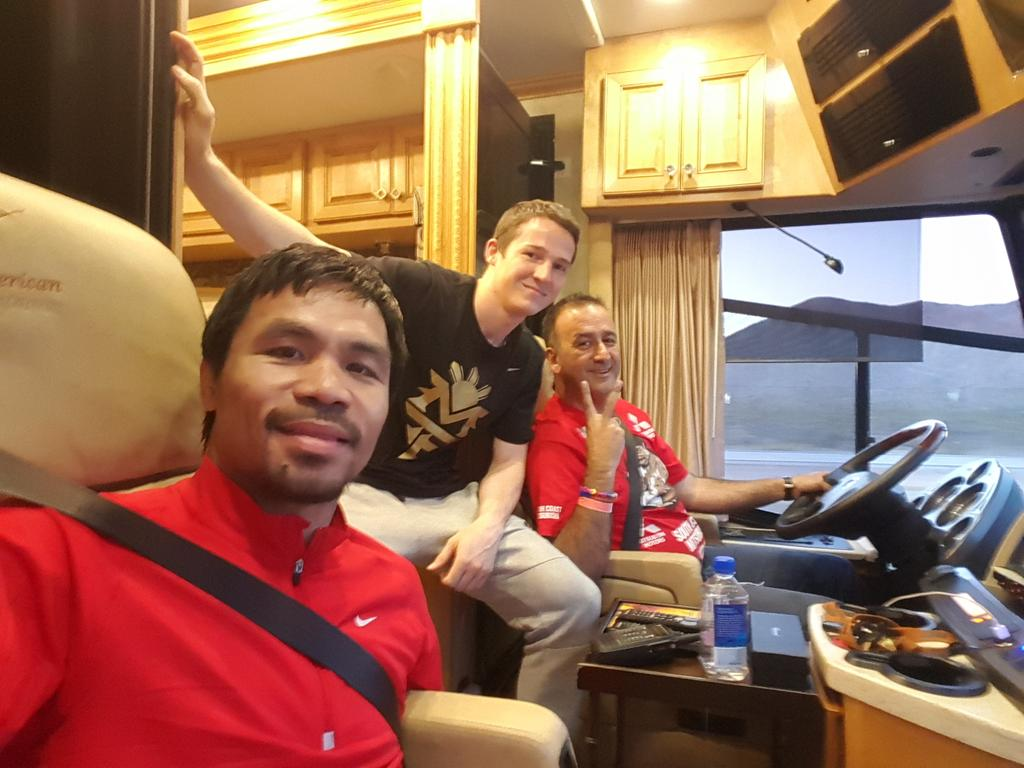 RT @MannyPacquiao: Road trip to Las Vegas. #MayPac http://t.co/RXcUYrcwta