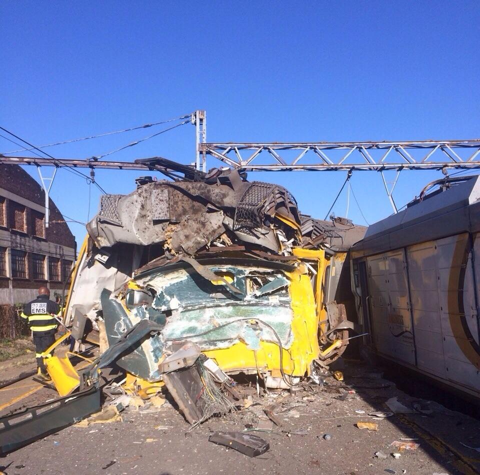 Photo: Collided Trains In Johannesburg, South Africa