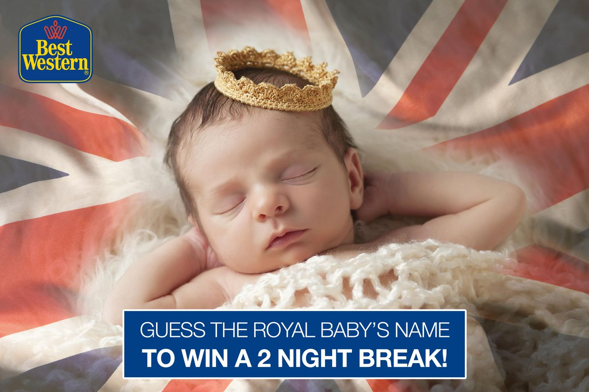 WIN A TWO NIGHT BREAK! Can you name the #RoyalBaby? Guess correct and you could be the winner! http://t.co/w8dwaWZk99