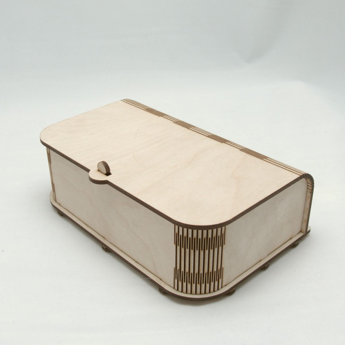 Lasercraft creations on twitter laser cut wooden box for Laser cut wood box template