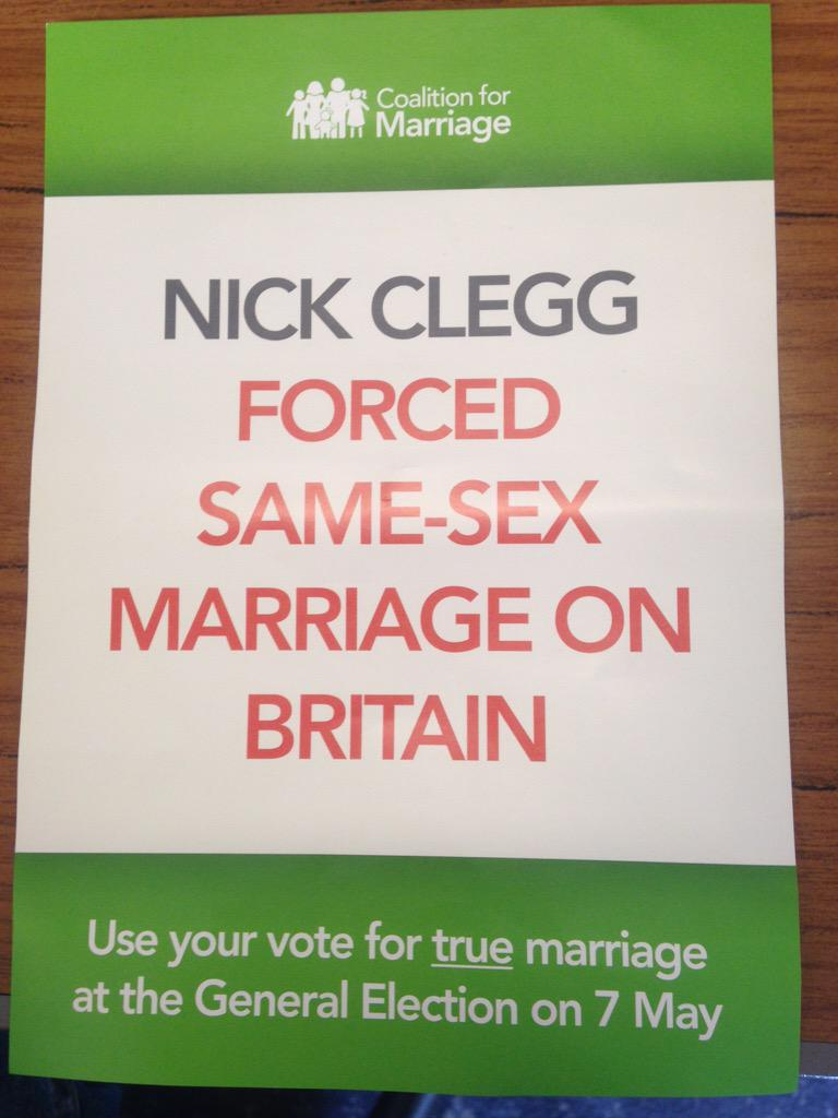 Don't think I've actually forced anyone into a same-sex marriage but proud to have given people the choice though. http://t.co/L5vIlZp0Mi