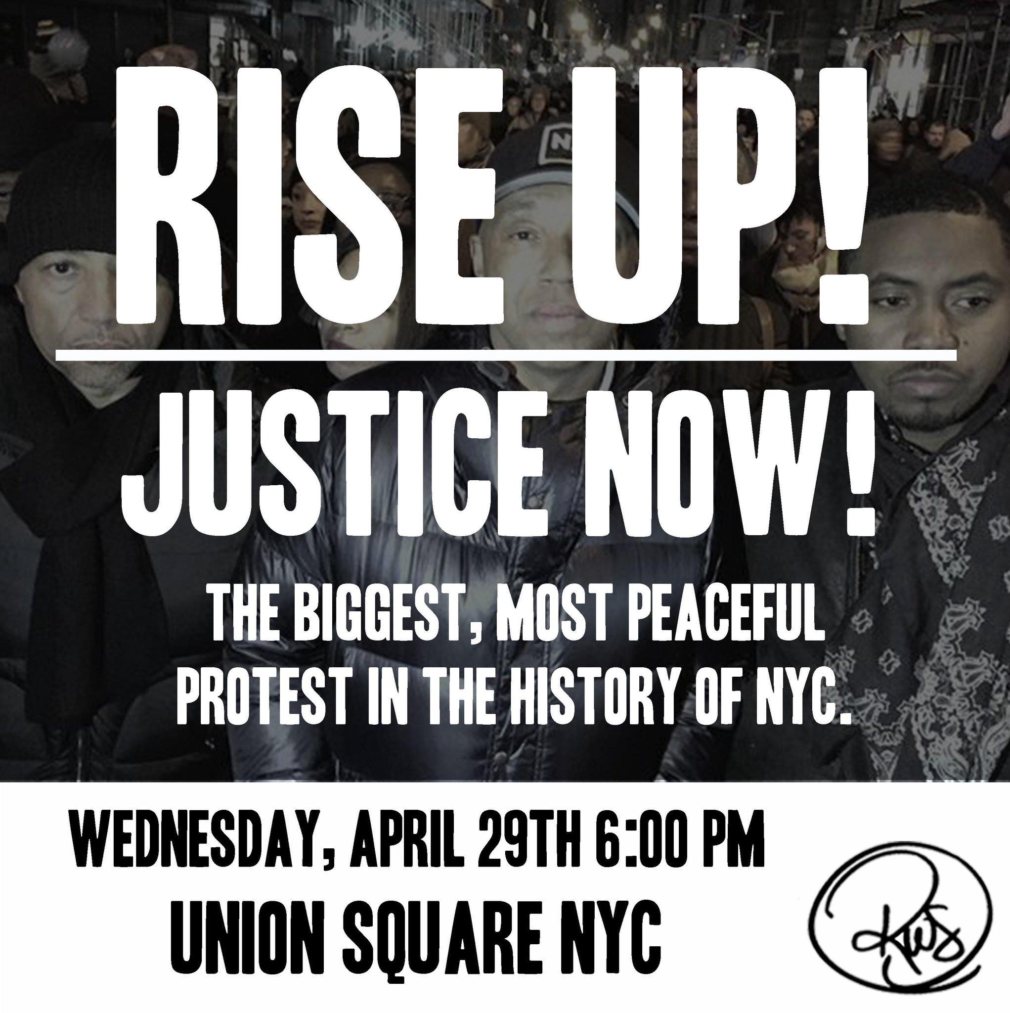 Rise up! Justice now! The biggest, most peaceful protest in the history of NYC.  April 29th | 6:00 PM | Union Square http://t.co/krJenj5k7b