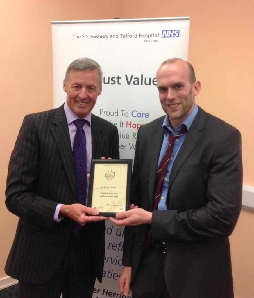 Here's respiratory consultant Gordon Wood - nominated for providing vital support when a colleague was not available http://t.co/yU0X9Lli8p