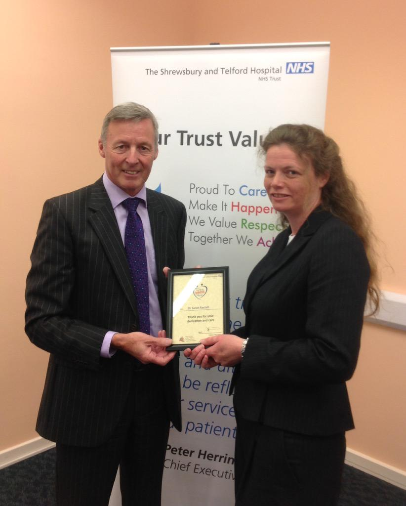 """Consultant Sarah Rastall was nominated by a patient who said """"all would be well for my future in her capable hands"""" http://t.co/LtUyEAsHfk"""