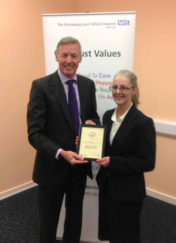 """Rosie Kemp was nominated by a colleague - """"her instincts saved a patient's life"""" http://t.co/hRPf6x5Wcr"""