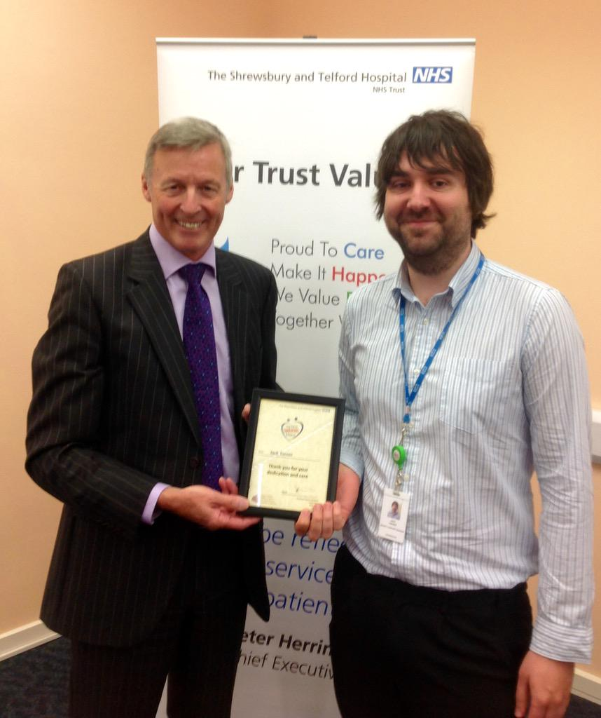 Jack and his colleague Andy worked tirelessly to resolve an IT problem affecting the hospital http://t.co/QYa6H3yrpp