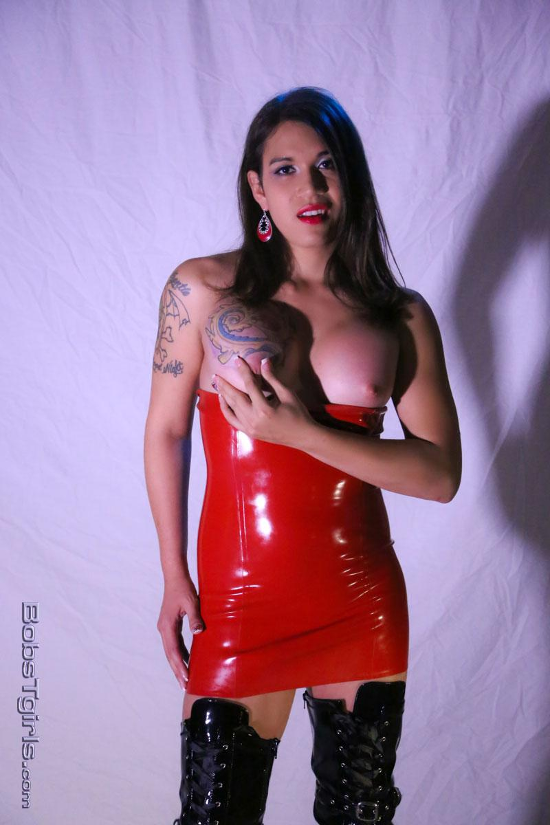 clothes sexy Shemale latex