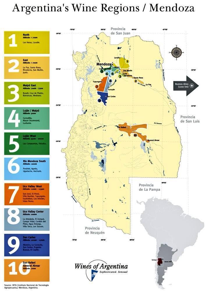 Fabrice Argounès On Twitter Argentina Mendoza Wine Region - Argentina regions map