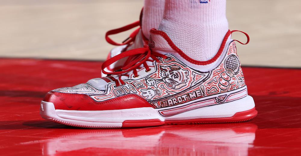 e0ccfceed291 see the best kicks from last night s nba playoff action including  damelillard s customs