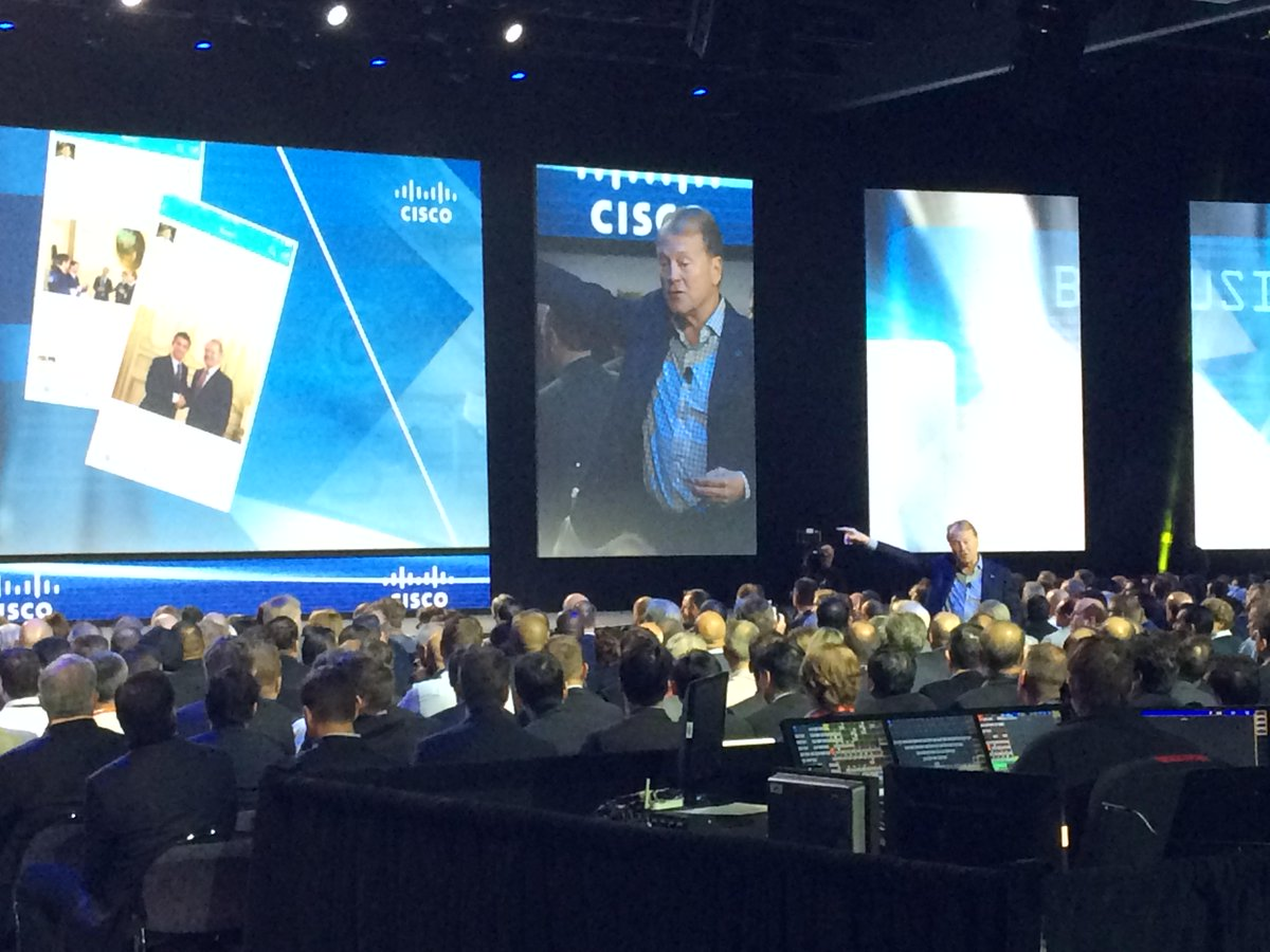 """""""We have to transform as a company, and I'm asking you to transform together with us"""" -John Chambers #CiscoPS15 http://t.co/W2XHPySg3o"""