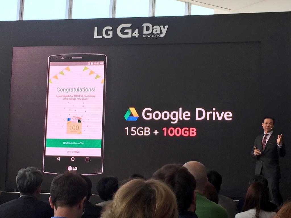 Redeeming 100GB Google Drive - Pg  3   LG G4