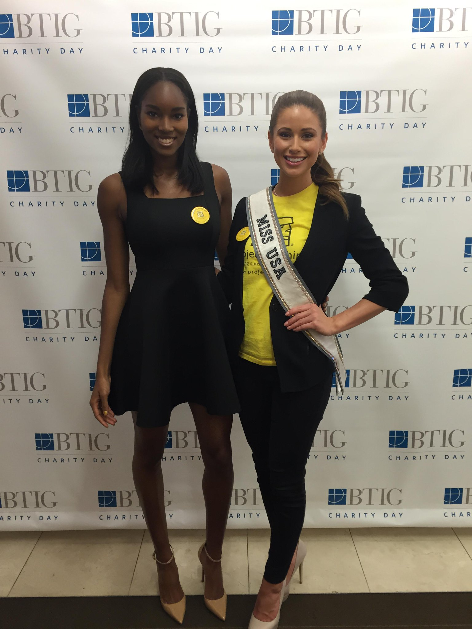 RT @ProjectSunshine: Thank you @DamarisLewis & @MissUSA for representing @ProjectSunshine @BTIGCharityDay today! #PSweek http://t.co/gUQuCf…