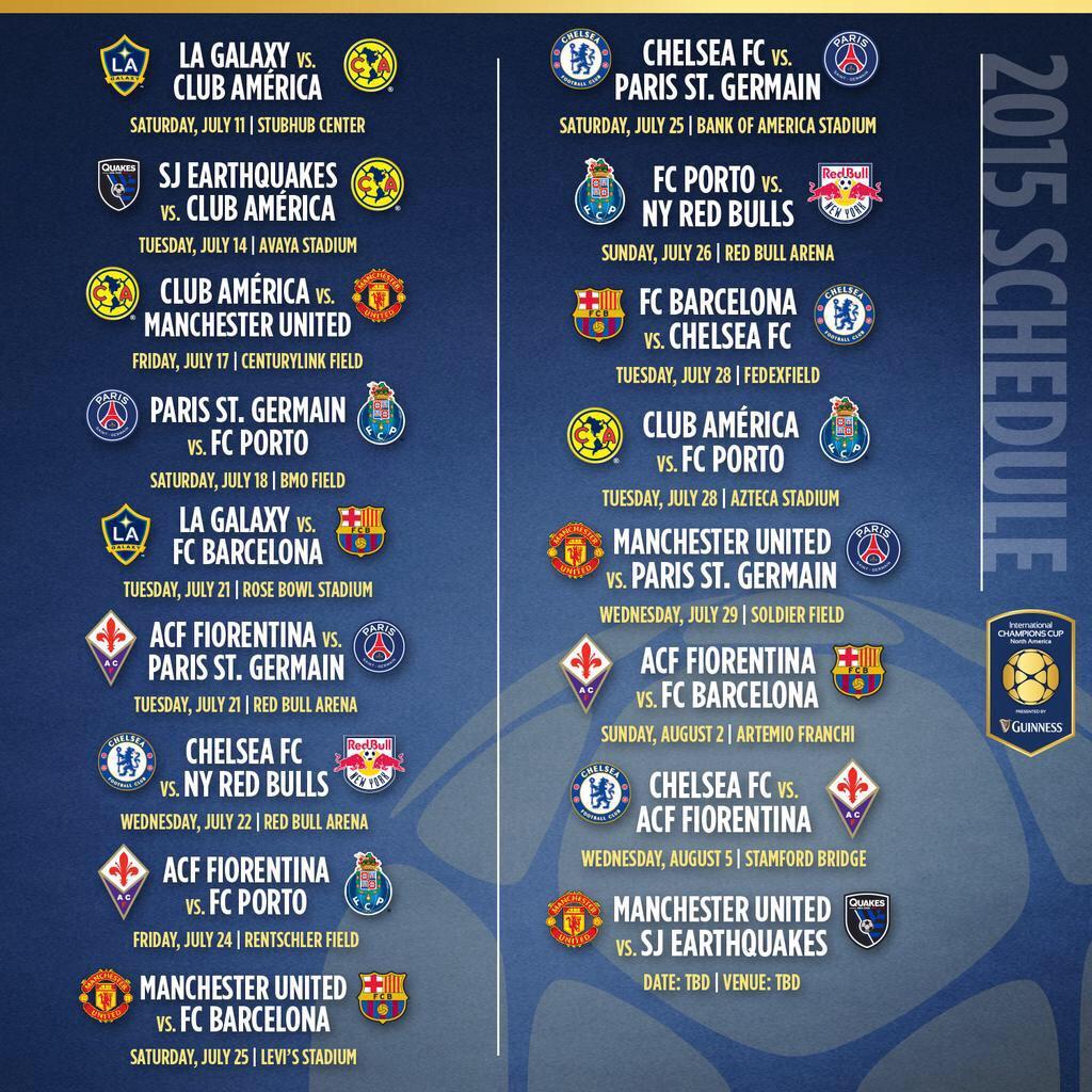 Chivas International Champions Cup Calendario.Andre Marin On Twitter Calendario Del Cf America En La