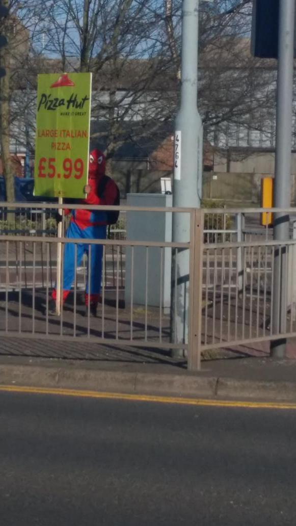 James Bearman On Twitter Either Spiderman Has Fallen On