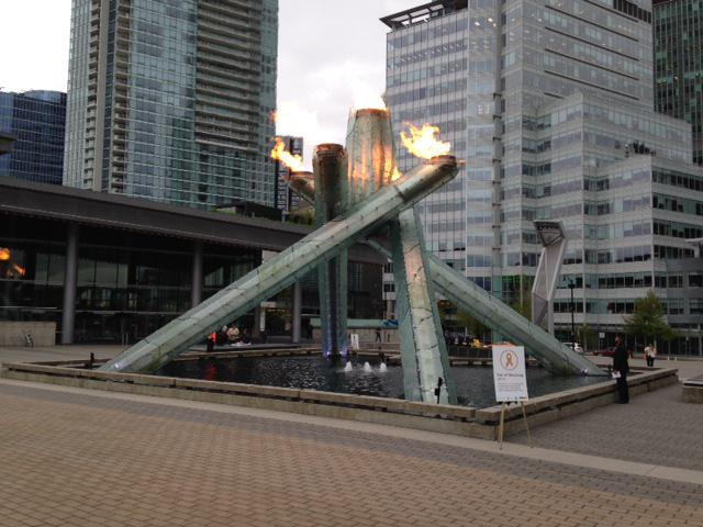 Cauldron lit at the #DayOfMourning ceremony #Vancouver in honour of lives lost. Thank you @FortisBC @IBEW http://t.co/9lmztV2e8x
