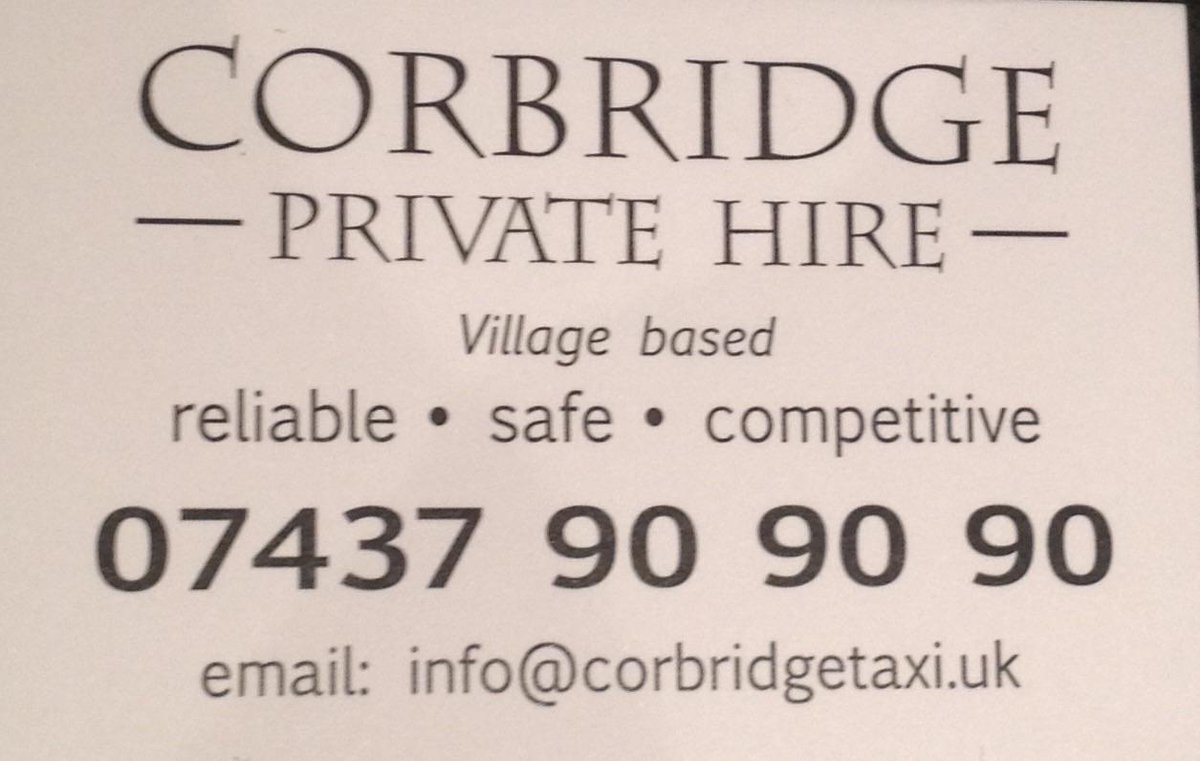 In or near Corbridge please try and share my friend Mark's business ex Marky Mark from Metro Radio TOP MAN http://t.co/ylv7zElQmA