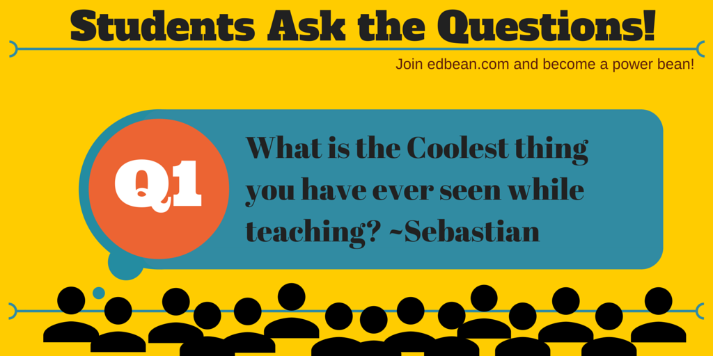 Q1: on #edbean... Ss directed questions love to hear what Ts have to say. Join in the fun. http://t.co/AKB3cWBL6J