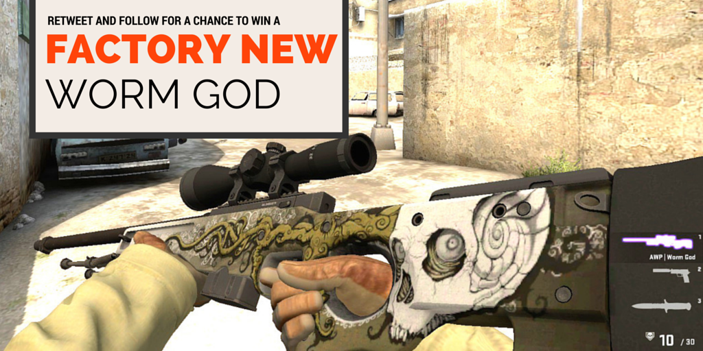 """Dylan Walker on Twitter: """"#csgogiveaway Factory New AWP Worm God: Must RE-TWEET and FOLLOW to win. Winner announced May 6th!"""