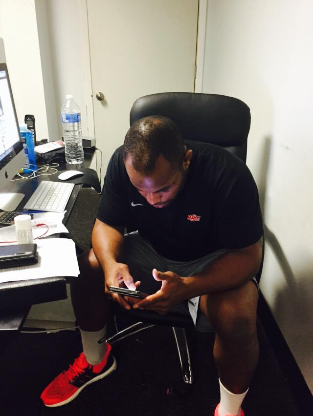 Here is @dc_mma looking in his cell for news of whether  he is the replacement May 23rd http://t.co/FJopUd5U69