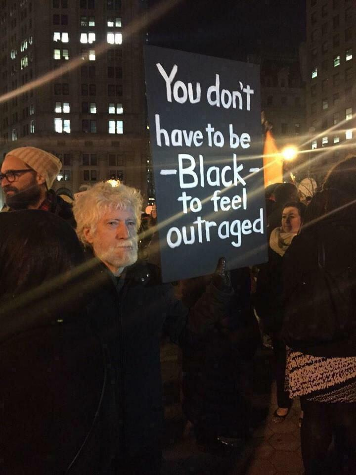 """""""@Bipartisanism: Remember. You don't have to be black to feel outraged. #BaltimoreUprising #BaltimoreRiots http://t.co/NNwIPMltqQ"""" No Shit!"""