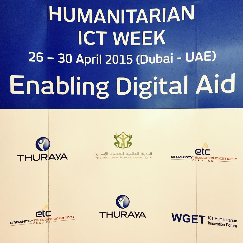 Looking forward to innovative & inspiring days! #enablingdigitalaid #TeleplanGlobe @  #WGETforum #humanitarianICTweek http://t.co/owaBrN9Dv5