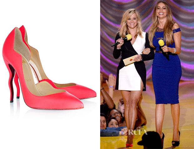 211bc78d660 Christian Louboutin Dalida' Neon Leather Pumps : Reese Witherspoon ...