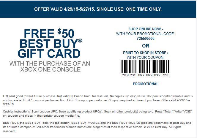 Xbox one coupon code