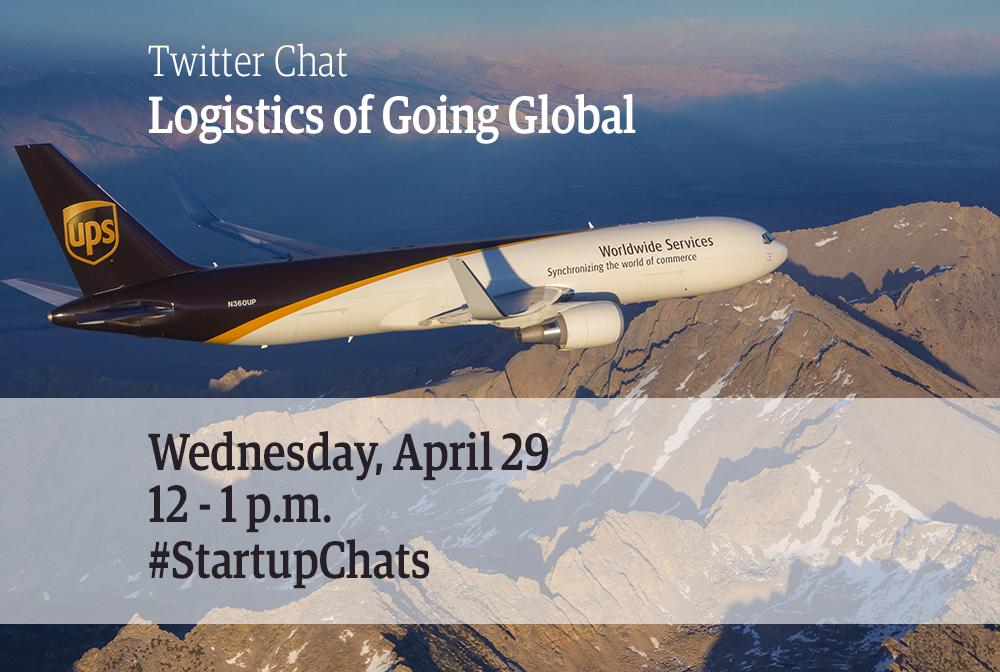 Today from 12-1pm: 'Logistics of Going Global' Twitter Chat! Why it should be top of mind for all #SMBs #StartupChats http://t.co/HOoeMXItF6