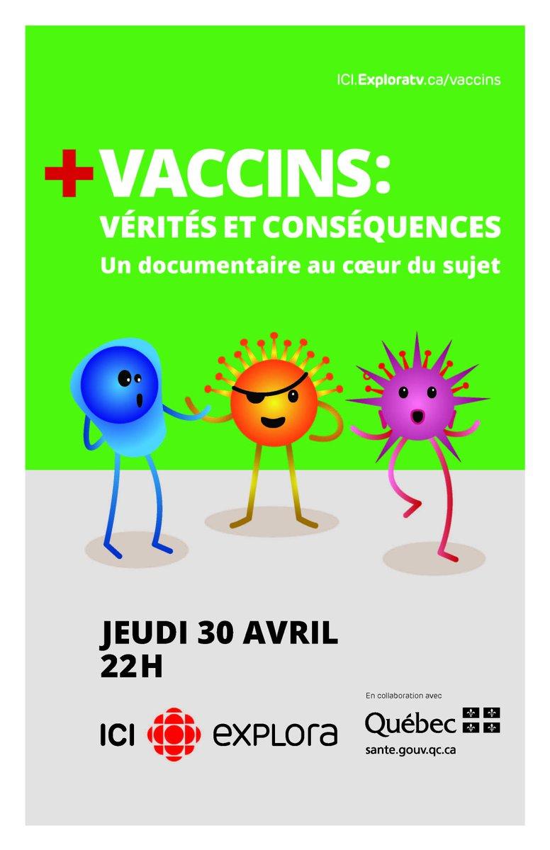 Ne manquez pas le documentaire #Vaccins : vérité et conséquences, à @iciexplora demain, 22 h! http://t.co/Jkg9wtJIM2 http://t.co/2qH2wAYylQ