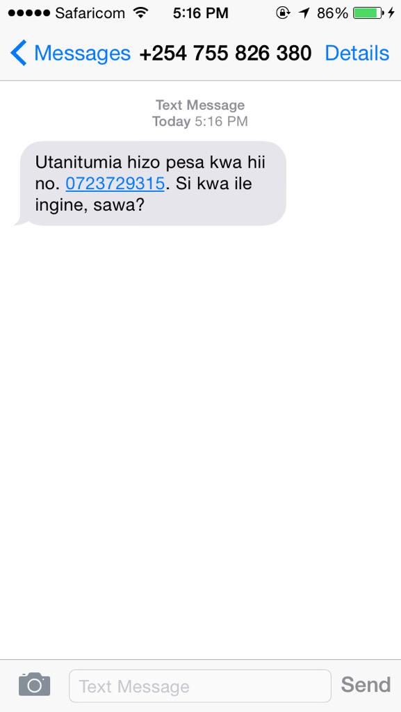 Safaricom Plc On Twitter Brianmbunde Hi Kindly Forward The Sms To Our Fraud Reporting Number 333 Free For Our Team To Deal Nr