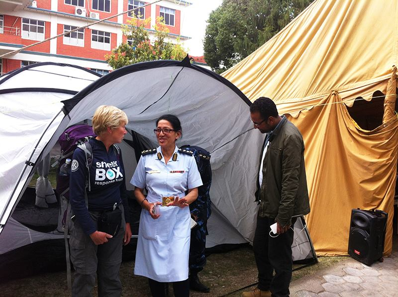 Most hospitals in Kathmandu, Nepal have been condemned, so @ShelterBox tents are being used as spaces to treat people http://t.co/wyBxHJsPGz