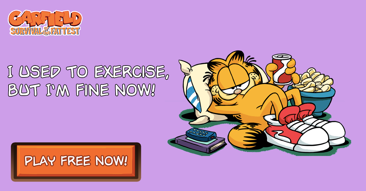 Play Garfield On Twitter Keeping Garfield Far From Exercise That S What Playgarfield Is All About Play Now Http T Co 2nwvq7rknr Http T Co Tqhkcbex8n